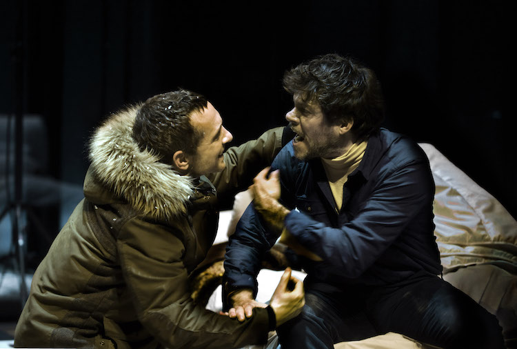 Pablo Derqui and Ivan Benet in L'ànec salvatge (The Wild Duck) based on the play by Henrik Ibsen. Photo © Ros Ribas.