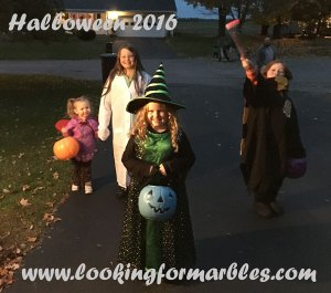 picture of Halloween 2016 as they trick or treated