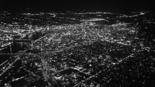 BW Portland at Night