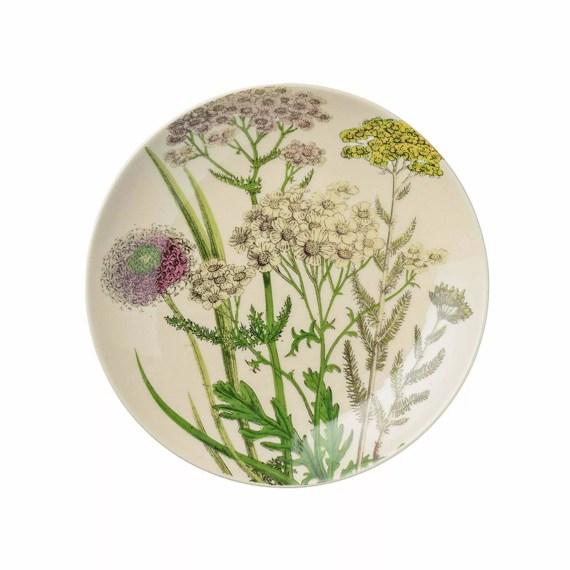 talerz kremowy botaniczny