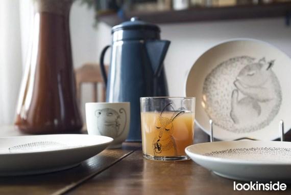 szklanka z krolikiem