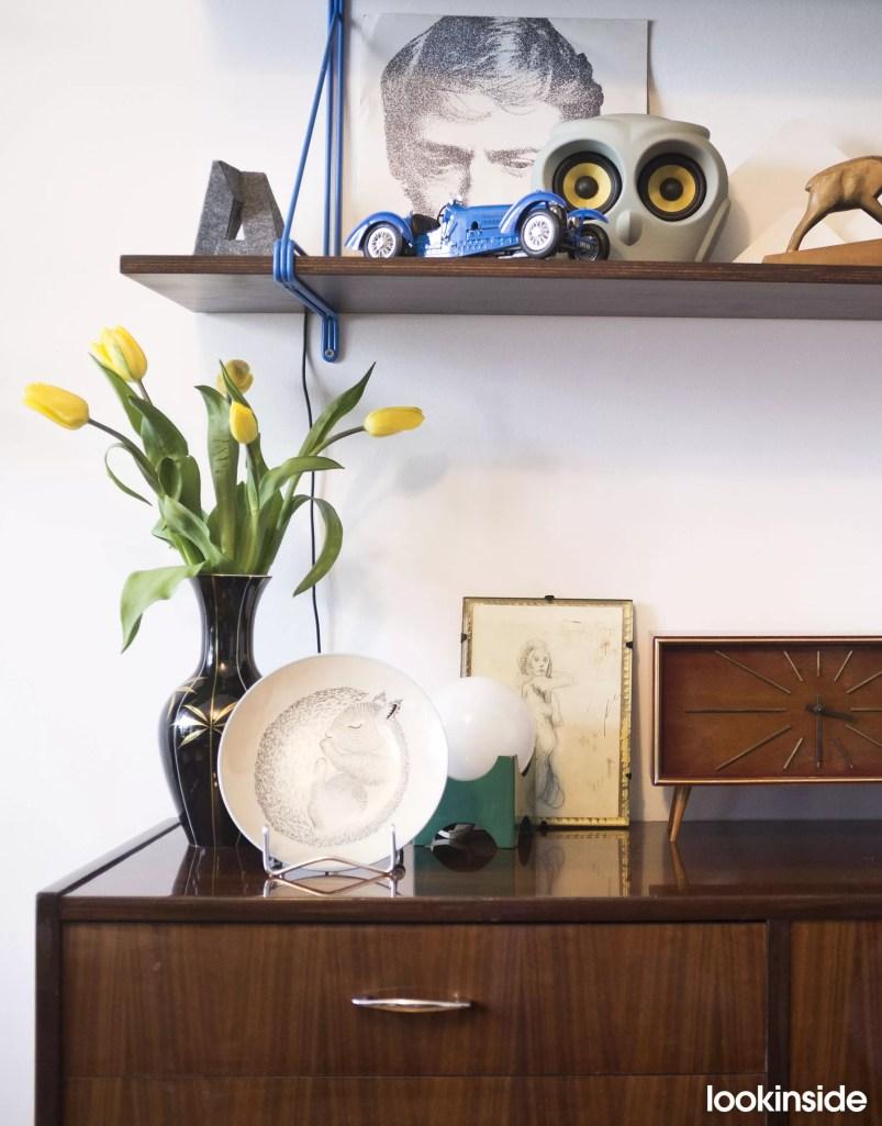 szafka na wysoki połysk i tulipany