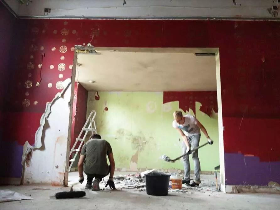 prace remontowe w Look Insidea