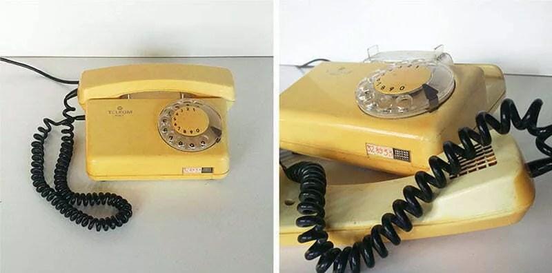 telefon tulipan żółty