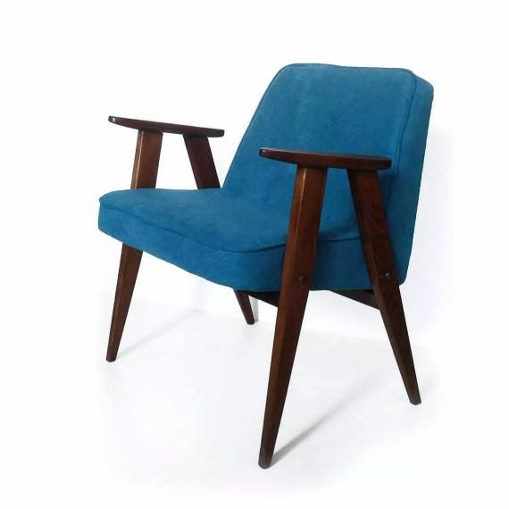 Fotel Chierowski 366 niebieski