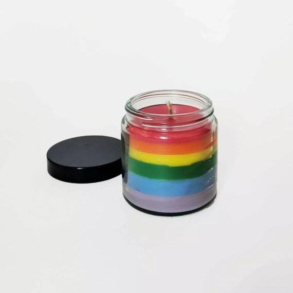 świeczka LGBT tęczowa mała la flamme