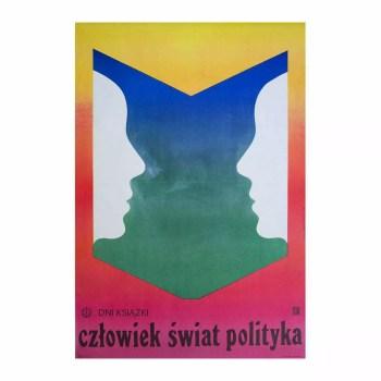 Plakat Człowiek świat polityka, Majewski