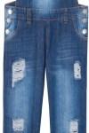 Jardineira Jeans Market 33 Boyfriend - Azul - Market 33