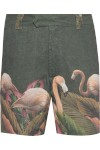 Bermuda Masculina Bolsos Flamingo - Verde - Água De Coco