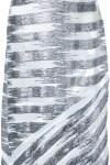 Vestido Midi Com Decote Profundo E Bordado Metálico - Manning Cartell