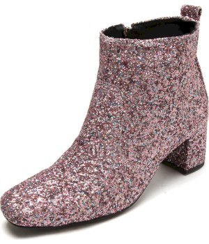 Bota Dafiti Shoes Glitter Rosa - Dafiti Shoes