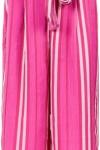 Iorane Calça Pantacourt Clochard Listrada - Pink & Purple - Iorane