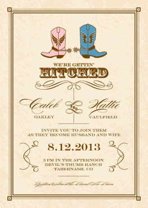 Wedding Invitation Gettin Hitched