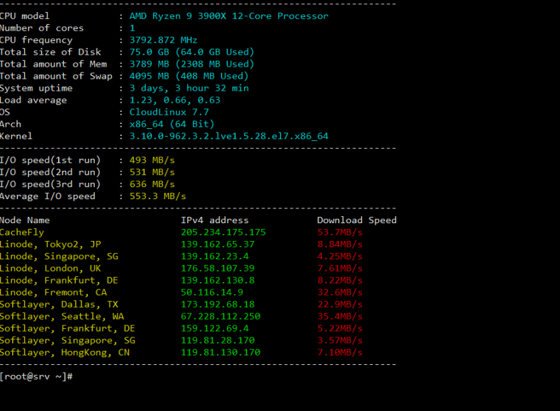 Check VPS Network Speed BuyVM slice