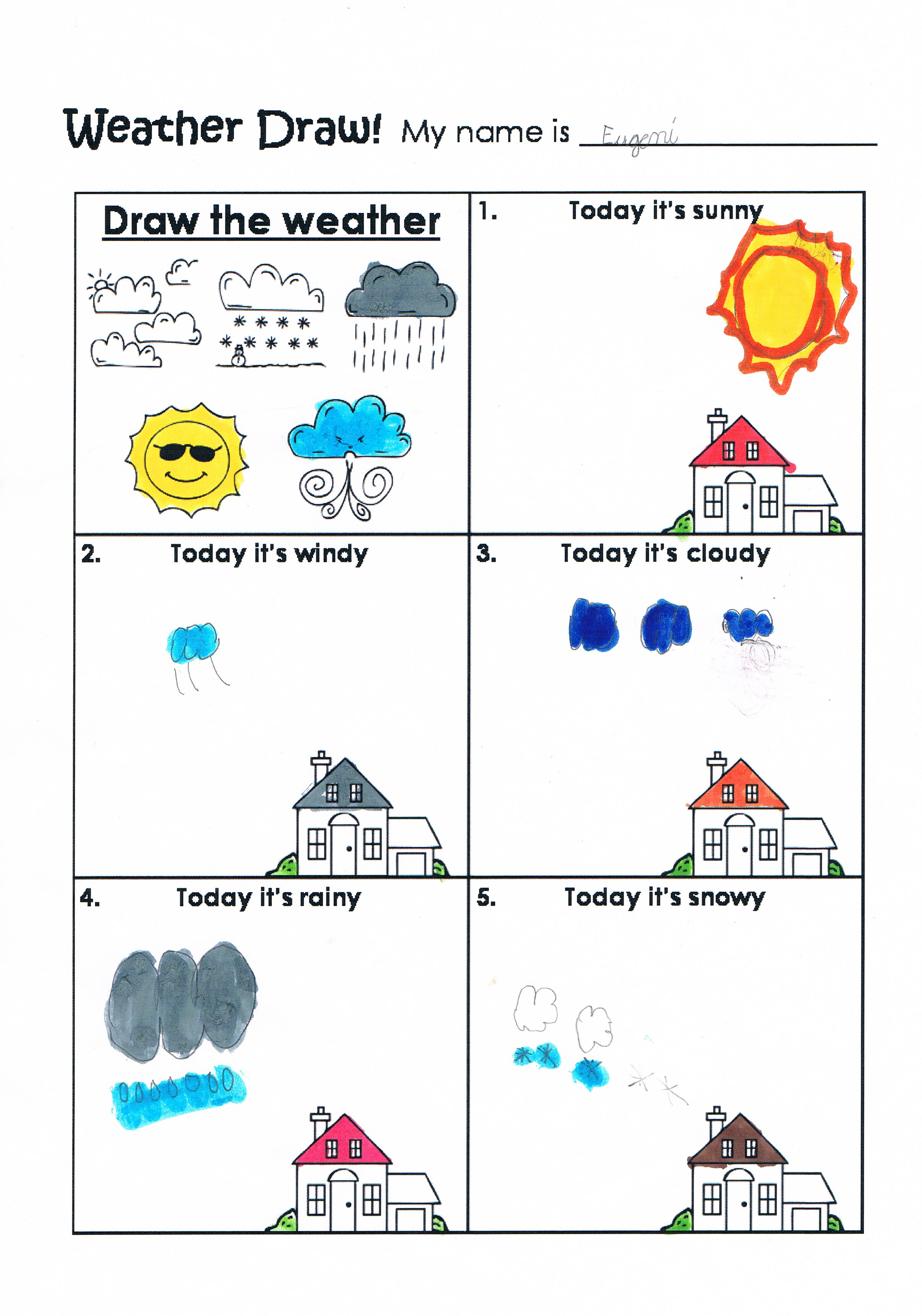 Sun Vocabulary Worksheet