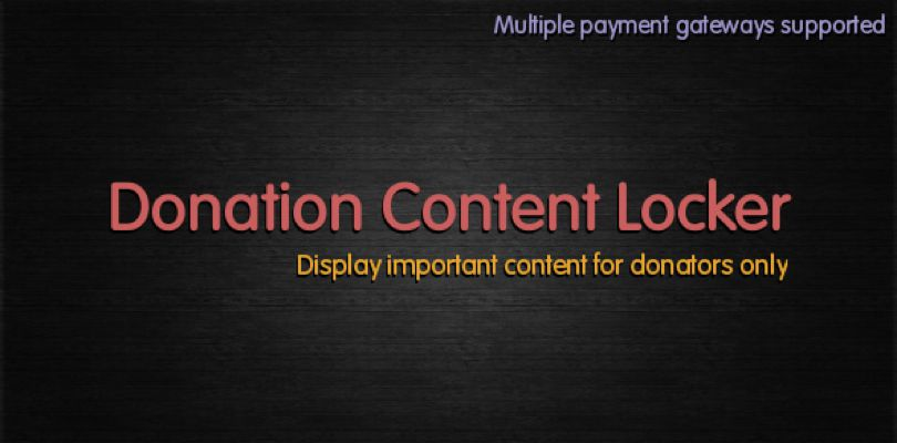 Donation Content locker for WordPress