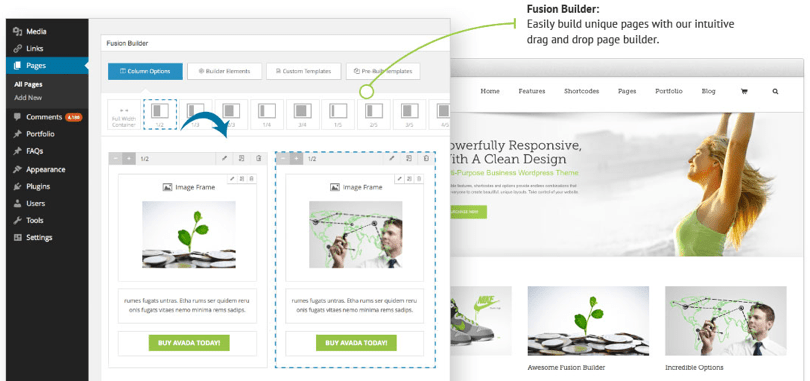 Avada WordPress Theme — Fusion Builder