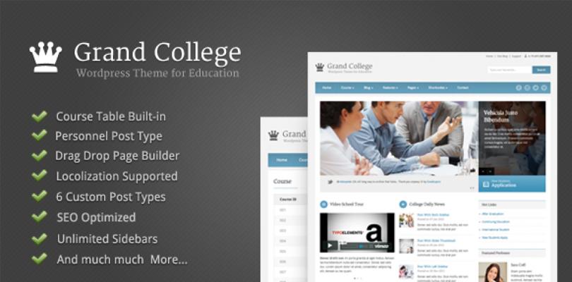 Grand College — Premium WordPress Theme