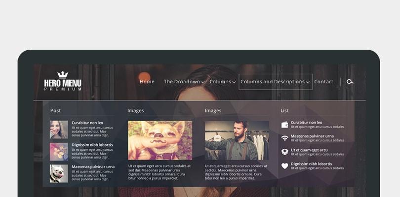 Hero Menu Responsive WordPress Plugin — Looks Awesome