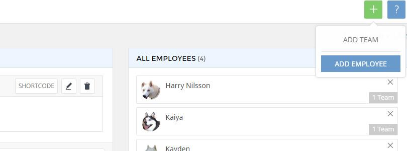 Team Builder add employee