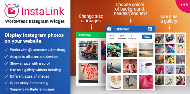 Instagram Widget for WordPress – InstaLink