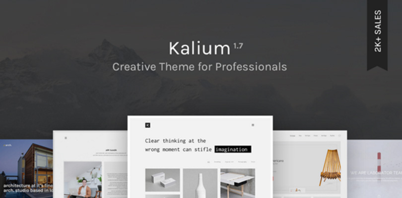 Kalium — Creative Theme for Professionals