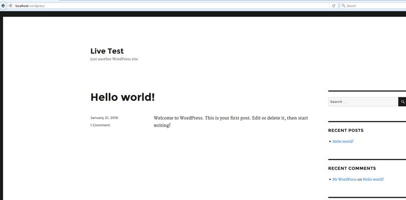 Live Test
