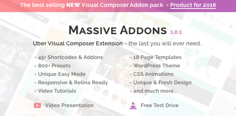 Massive Addons for Visual Composer — Looks Awesome — Themes