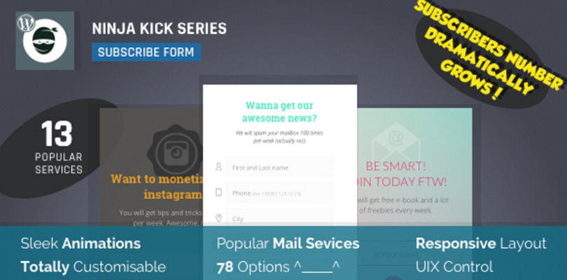 Ninja Kick Subscribe Form