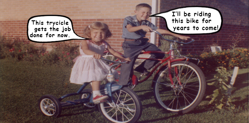 Bicycle vs Tricycle