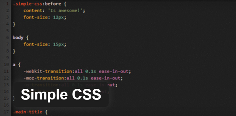 Simple CSS WordPress Plugin