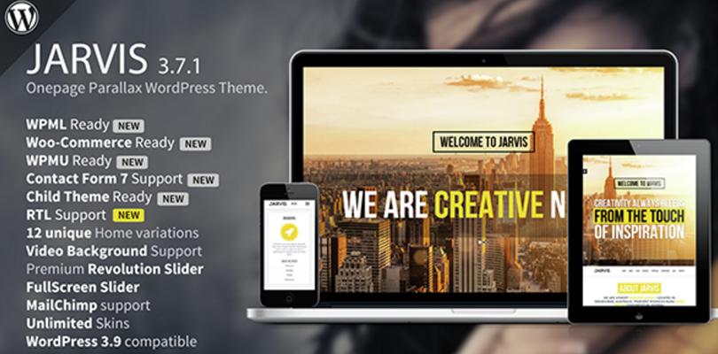 Jarvis Parallax WordPress Theme
