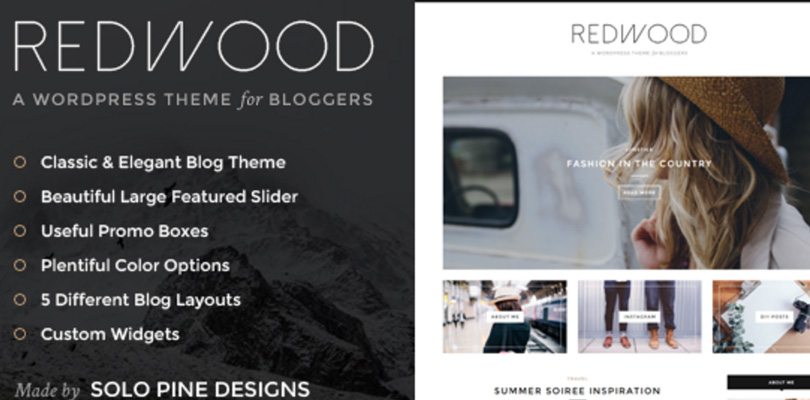 Redwood WordPress Theme for Bloggers
