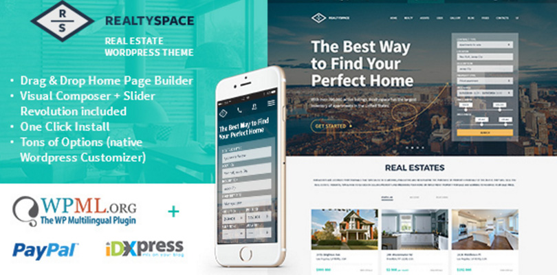 RealtySpace WordPress Real Estate Theme