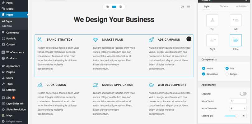 Bateaux multi purpose wordpress theme review features bateaux blueprint page builder malvernweather Image collections
