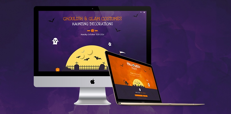 hauntingly spooky halloween website templates and builders