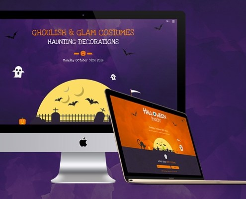 How to create a landing page with the wordpress theme jupiter hauntingly spooky halloween website templates maxwellsz