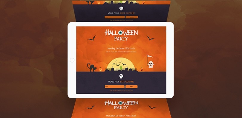 Hauntingly spooky halloween website templates and builders halloween website templates maxwellsz