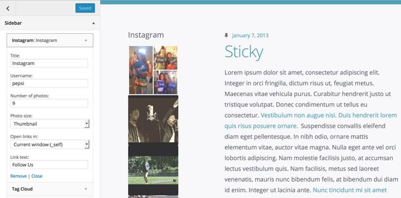 WP Instagram Widget