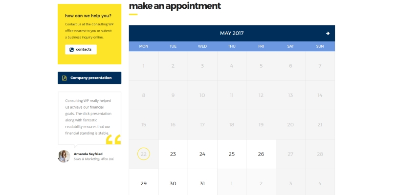Events and Appointments