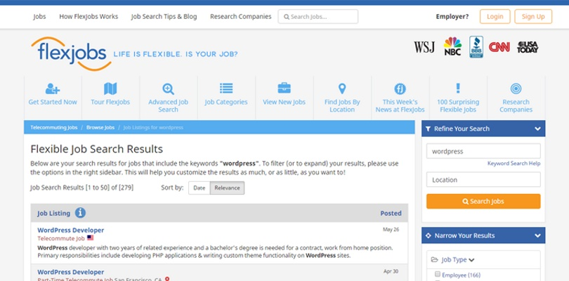 WordPress-Jobs-Flexjobs