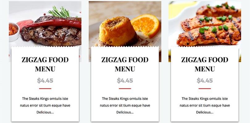 WordPress Food Menu