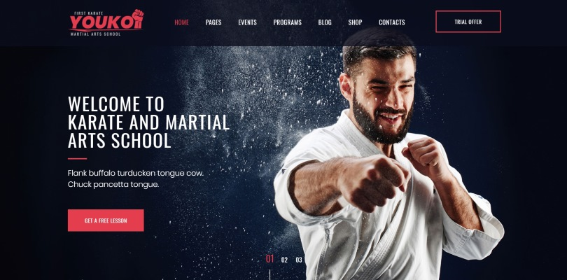 Best Premium WordPress Themes for Martial Arts Clubs and Schools