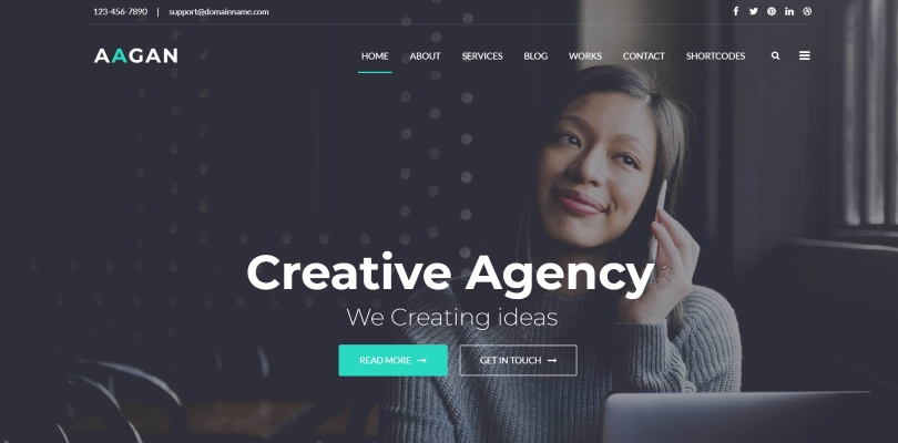 Aagan — Agency, Startup WordPress Theme