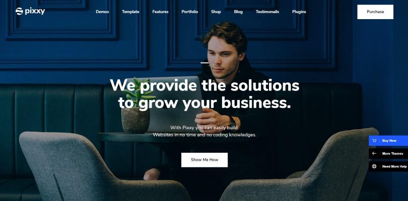 App, Software & SaaS Startup WordPress — Pixxy Software & Saas, App