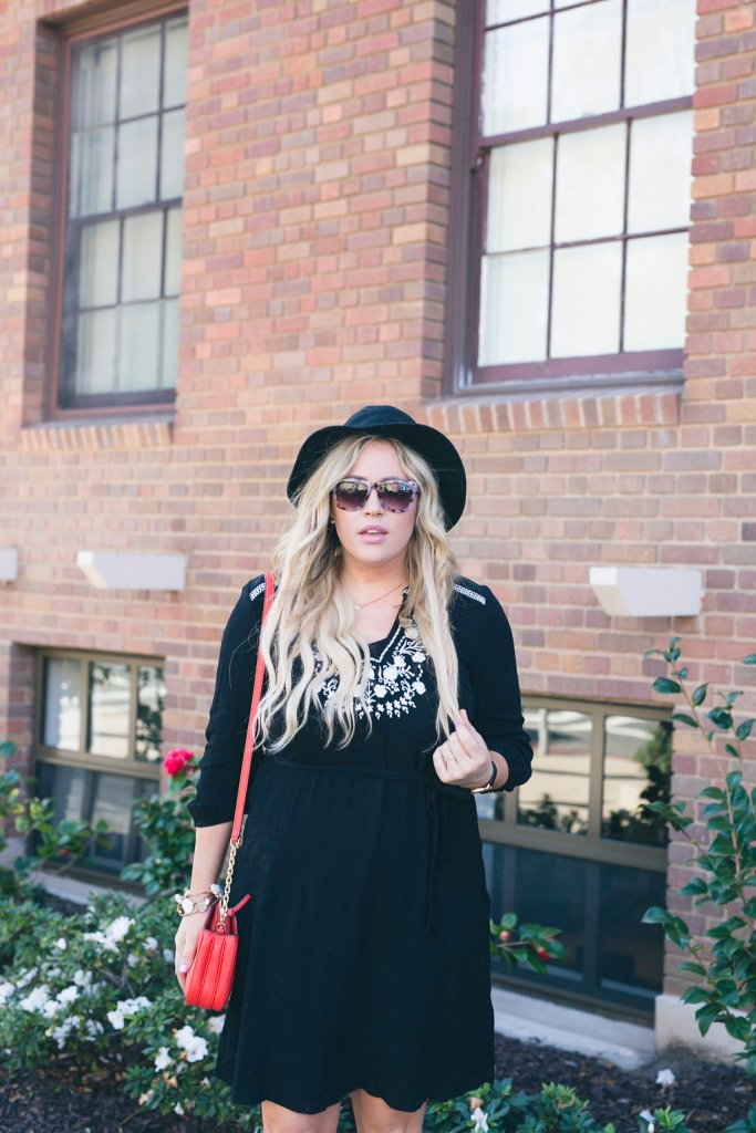 Black Embroidered Dress xx Old Navy, old navy, old navy dress, embroidered dress, women's clothing, fashion, style, fashion blogger, style blogger