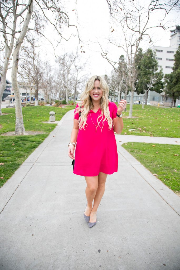 Easy Breezy Valentines xx Nordstrom Rack, valentines day, valentines dress, dress with pockets, pink dress, style blogger, fashion blogger, valentines style, valentines fashion