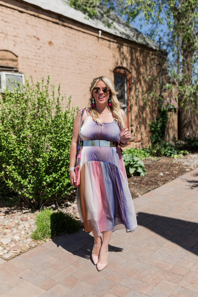 Watercolor Stripes and Tassels Dress, watercolor dress, tassel dress, tassels, ootd, fashion, fashion blogger, san diego, san diego blogger, pregnant blogger, pregnant