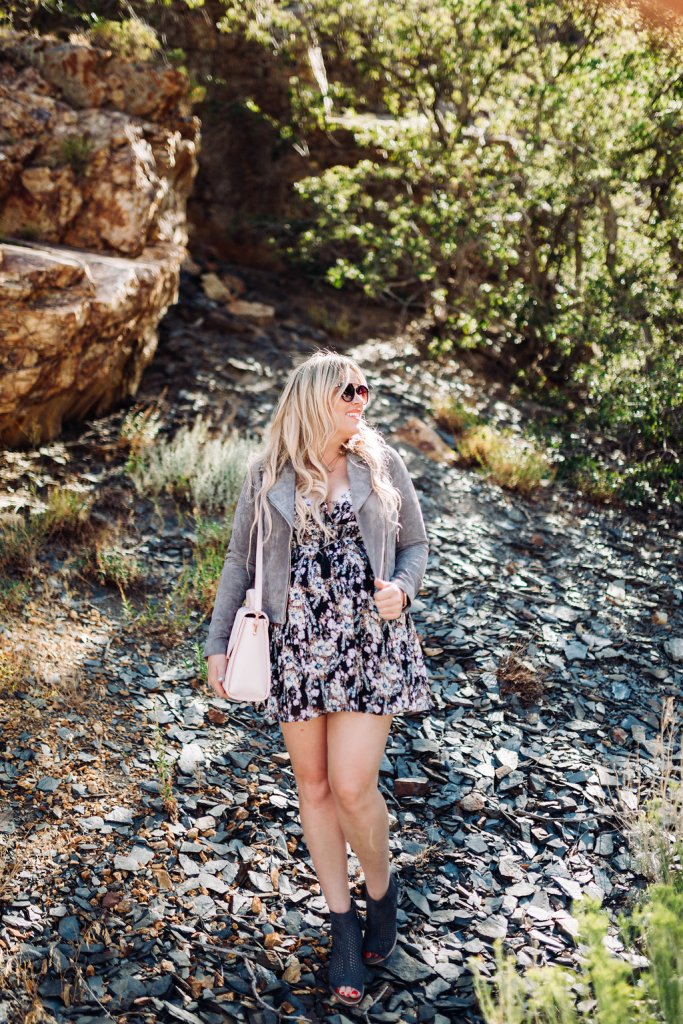 Dark Florals in the Mountains, dark florals, free people, blanknyc, nordstrom, style blogger, fashion blogger, style blogger, san diego blogger, preggo blogger, maternity blogger, shopbop, shopbop blogger, shopbop style