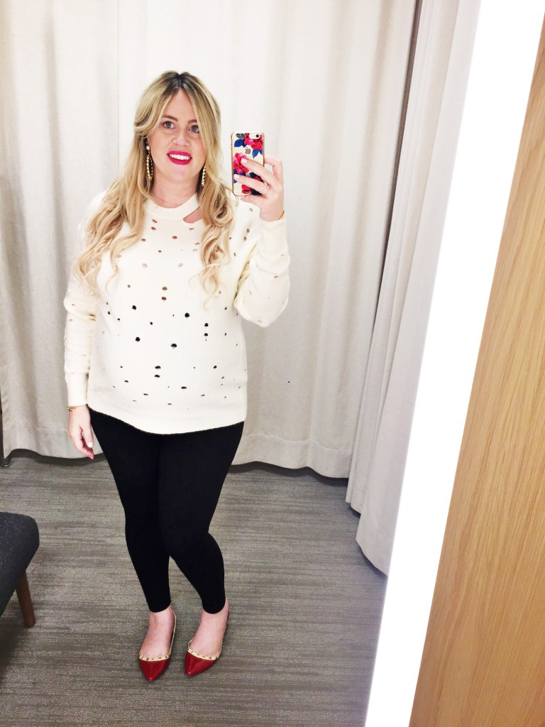 Dressing Room Dilemma: Statement Sweaters for Fall, statement sweater, ruffle sweaters, ruffles, preggo, preggo blogger, maternity, maternity blogger, fall fashion, fall style, fall ootd, pregnant blogger, pregnant style